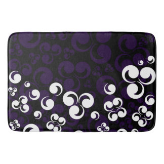 Purple White Black Retro Bath Mats