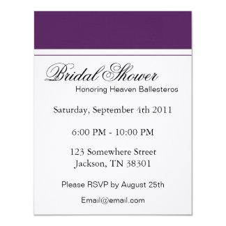 Purple & White Bridal Shower Invitations