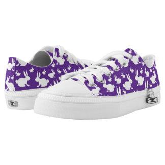 Purple White Bunny Rabbit Sneakers