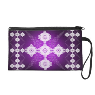 Purple White Celtic Wristlets