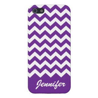 Purple & White Chevron Trendy monogram iPhone case iPhone 5 Covers
