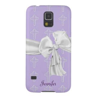 Purple & White Christian Samsung Galaxy S5 Case