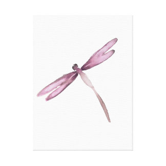 Purple white dragonfly canvas dragonflies