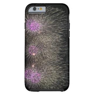 Purple & White Fireworks (iPhone 6/6s Case) Tough iPhone 6 Case