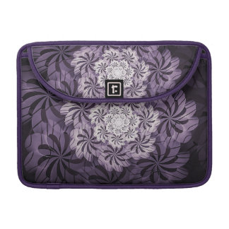 Purple & White Floral Design Art Macbook Sleeve Sleeves For MacBooks