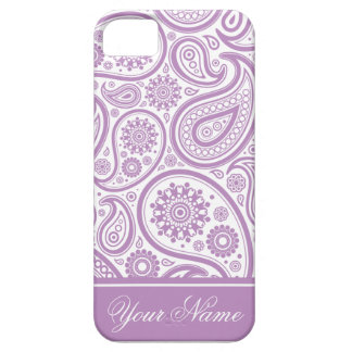Purple White Floral Paisley Pattern Barely There iPhone 5 Case