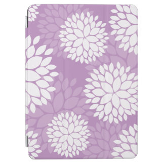 Purple White Floral Pattern iPad Air Cover