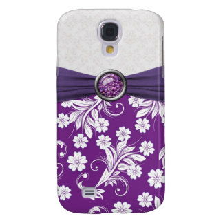 Purple white floral swirls Speck Case
