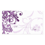 Purple White Floral Wedding Place or Escort Cards Pack Of Standard Business Cards