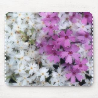 Purple & White Flowers Mousepad