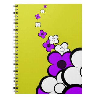 Purple & White Flowers Notebook