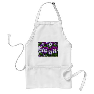 Purple & white flowers standard apron