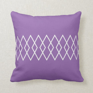 Purple & White Geo Diamond Throw Pillow