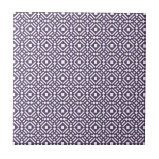 Purple & White Geometric Tile Tessellation Pattern