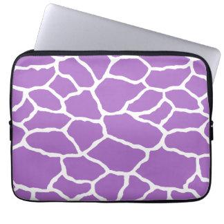 Purple White Giraffe Skin Pattern Laptop Sleeve