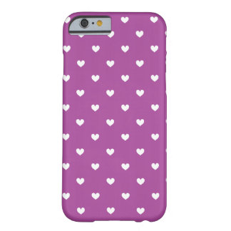 Purple & White Hearts Pattern iPhone 6 case Barely There iPhone 6 Case
