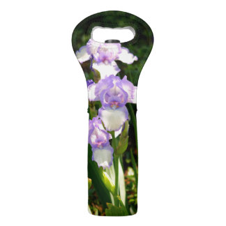 Purple & White Iris's Wine Tote