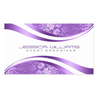 Purple & White Modern geometric Design Pack Of Standard Business Cards