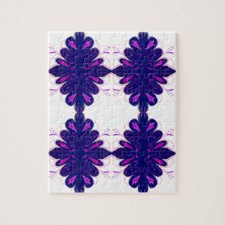 Purple white Ornaments Jigsaw Puzzle
