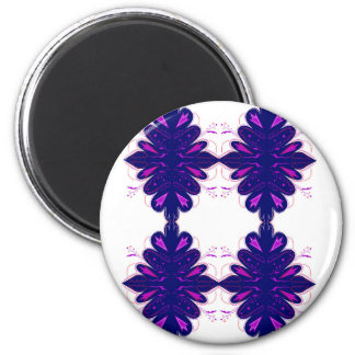Purple white Ornaments Magnet