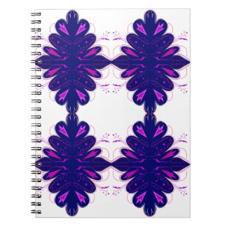 Purple white Ornaments Notebook