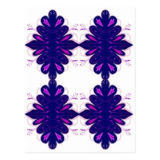 Purple white Ornaments Postcard