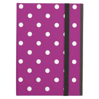 Purple & White Polka Dots Art, iPad Air Case