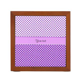 Purple & White Polka Dots Desk Organiser