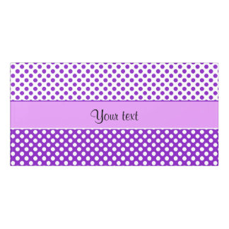 Purple & White Polka Dots Door Sign