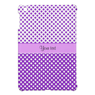 Purple & White Polka Dots iPad Mini Cover