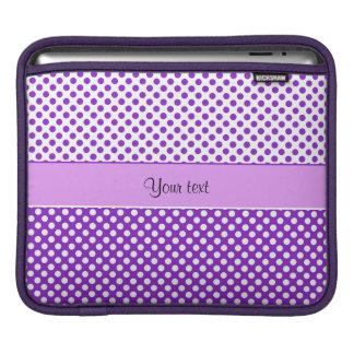 Purple & White Polka Dots iPad Sleeve