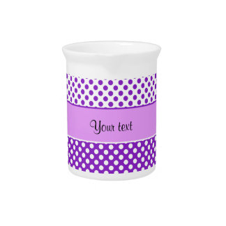 Purple & White Polka Dots Pitcher