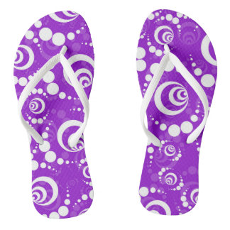Purple White Retro Thongs