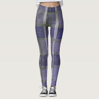 Purple White Silver Leggings