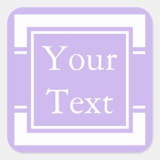 Purple & White Sticker or Label w/ Custom Text