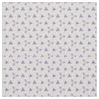 Purple & White Trillium Print Fabric