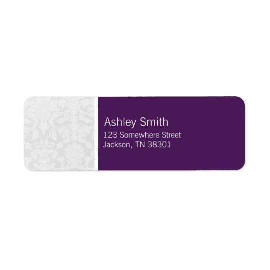Purple & White Vintage Wedding Labels