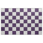 Purple & White Wavy Chequerboard - Fabric Prints