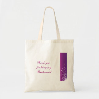Purple White Wedding Favour Bag for Bridesmaid