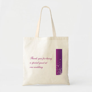 Purple White Wedding Favour Bag for guests