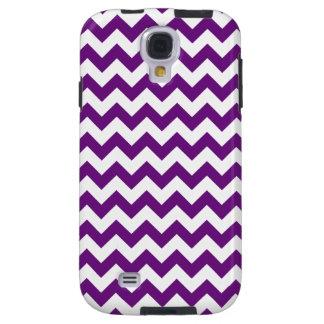 Purple White Zigzag Stripes Chevron Pattern Galaxy S4 Case