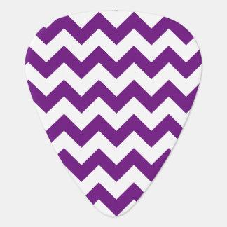 Purple White Zigzag Stripes Chevron Pattern Plectrum