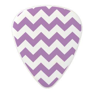 Purple White Zigzag Stripes Chevron Pattern Polycarbonate Guitar Pick