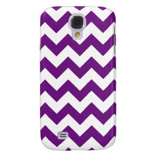 Purple White Zigzag Stripes Chevron Pattern Samsung Galaxy S4 Cover