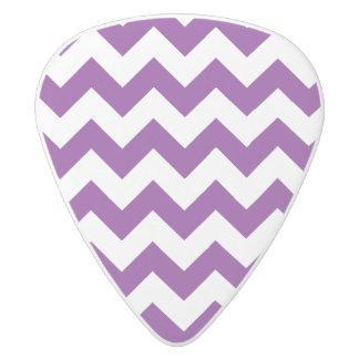 Purple White Zigzag Stripes Chevron Pattern White Delrin Guitar Pick