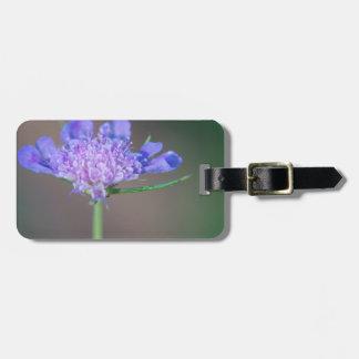 Purple wild flower luggage tag