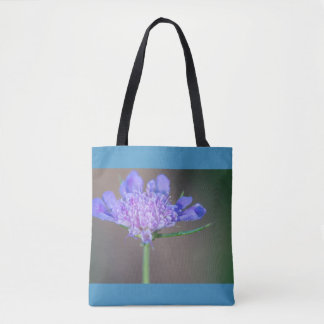 Purple wild flower tote bag