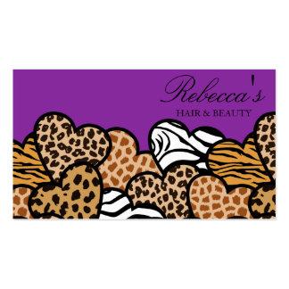 Purple Wild hearts Business Card