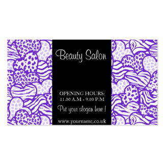 Purple Wild Hearts Design Business Card