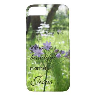 Purple Wildflower Bible Verse Phone Case